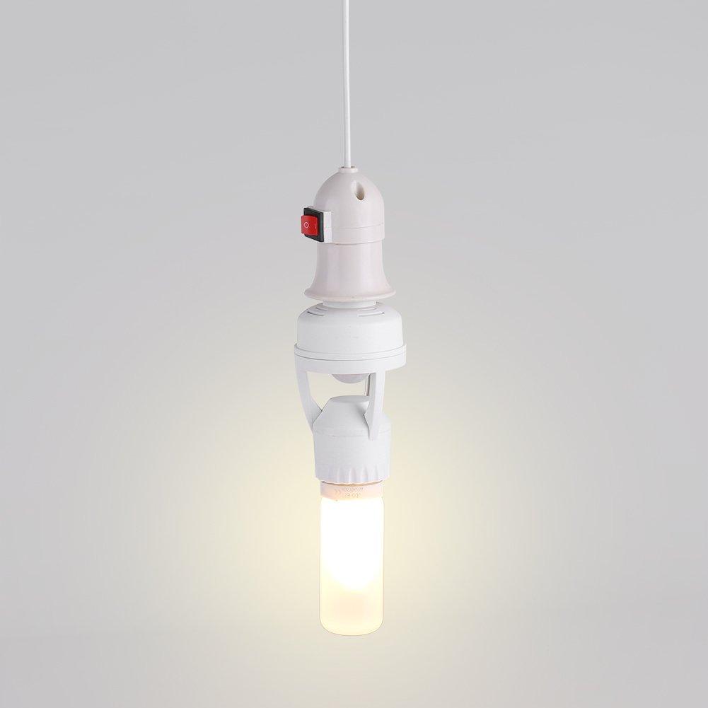 E27 Bombilla de LED Portalámparas Interruptor de Luz Interruptor de Sensor de Movimiento Infrarrojo Ajustable AC110-240V: Amazon.es: Hogar