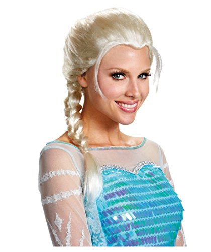 Disguise Women's Elsa Adult Costume Wig, Blonde, One (Adult Size Elsa Dress)
