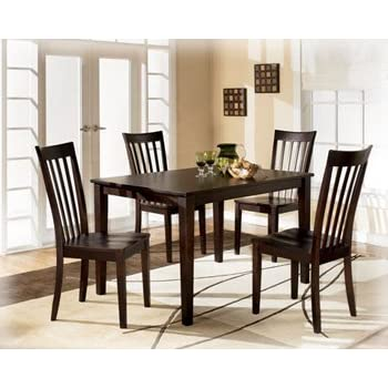 contemporary red brown hyland dining room table set - Dining Room Items