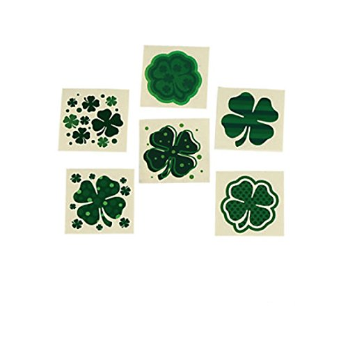 Fun Express Shamrock Patterned Tattoos