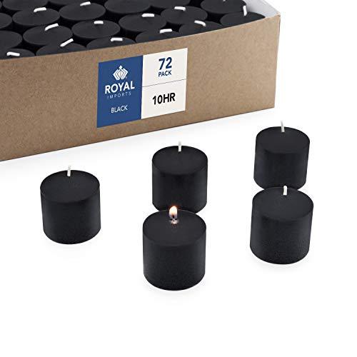 - Royal Imports Votive Candle, Unscented Black Wax, Box of 72, for Wedding, Birthday, Holiday & Home Decoration (10 Hour)