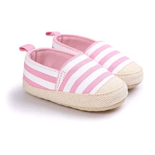 Zapatitos Primeros Pasos antideslizante Rayas Pantuflas Infantiles Zapatos suela suave de Bebé polvo