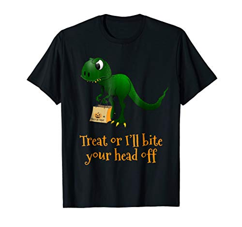 Dinosaur Trick Or Treat Halloween T-Shirt for