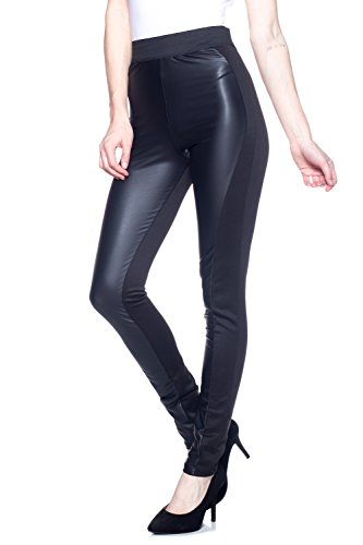 J2 LOVE Made in USA Front Faux Leather Moto Legging (XS-5X)