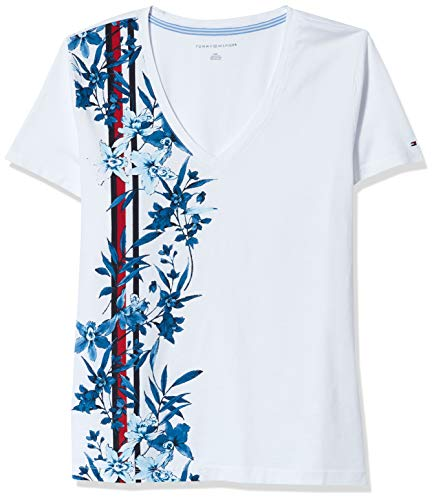 Tommy Hilfiger Women's Short Sleeve V-Neck T-Shirt (Standard and Plus Size)