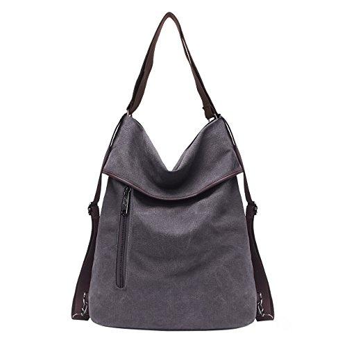 Multifunctional KSK Canvas B017a Women grey School Work Retro Shoulder Daypack Daily KAISHEK Backpack Casual Bag Bag for and Vintage qqzwArf