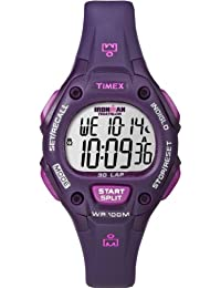 Timex Women's Purple Resin Band & Case Acrylic Crystal Quartz Grey Dial Digital Watch T5K756
