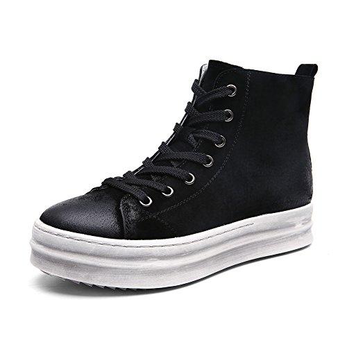 Alta suela gruesa zapatos en otoño e invierno/ zapatos plano casual del estudiante/Zapatos de plataforma versátil A