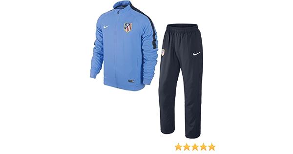 NIKE ATM Squad SDLN WVN Wup - Chándal Atlético de Madrid para Hombre, Color Azul