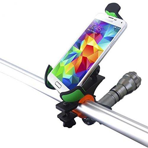Heavy Duty Bicycle Mount Bike Handlebar Phone Holder Cradle Rotating Dock Stand Strong Grip for BLU Vivo 5R - Huawei Google Nexus 6P - Huawei Mate 9