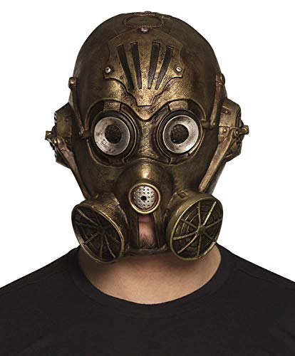 Boland 54537 Gas Punk Head Mask Bronze -