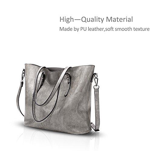 Crossbody Leather Casual amp;Doris Soft Ladies Bag Women Shoulder Tote Coffee Nicole Gray PU Messenger Handbag 0STwqq