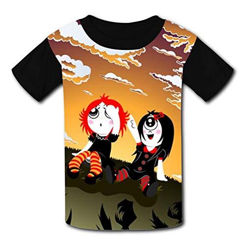 T-Shirt Short Sleeve Kids Tee Shirt Black Ruby Gloom Funny for Girls Boys -