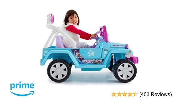 Amazon.com  Power Wheels Disney Frozen Jeep Wrangler  Toys   Games 86fef5bcc