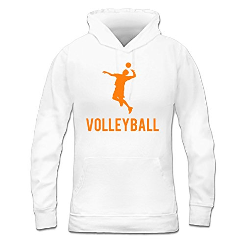 Sudadera con capucha de mujer Volleyball Sports by Shirtcity Blanco