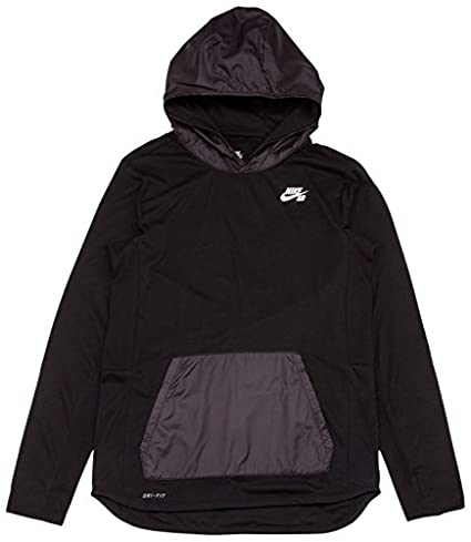 Nike SB Skyline Overlay Po Hoodie - Sudadera para Hombre, Color Negro/Blanco,