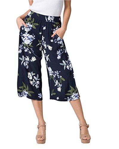LE CH/ÂTEAU Floral Print Viscose Culotte