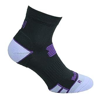Norfolk Branded Women's Cushioned Ankle Gym / Running / Sport Socks - Stella 5-7 Black