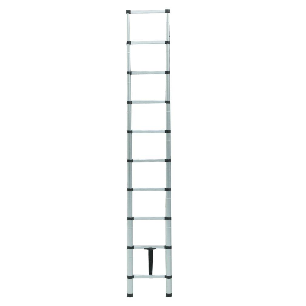 Homgrace Teleskopleiter Anlegeleiter 3,2 m 11 stufen Alu Ausziehleiter Mehrzweckleiter Stehleiter Dachboden Loft Leiter mit Fingerklemmschutz Belastbar bis 150 kg