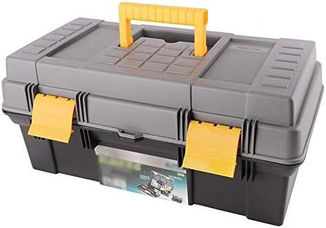 ChenCheng ツール収納ボックス - 多機能ダブルツールキットセット家庭用品収納ボックスポータブルポータブル車の修理ツール ツールボックスストレージと組織 (Size : 410x210x185mm)