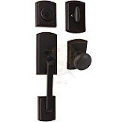Delaney Hardware 374004SN Visconti Handlesest, Single Cylinder Handleset, Black
