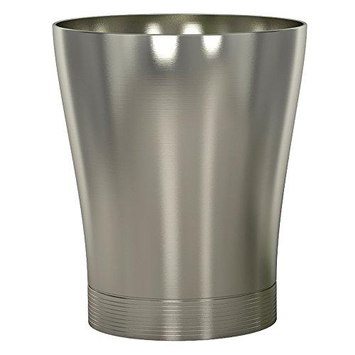 (nu steel SPM8H Special Collection Wastebasket Small Round Vintage Trash Can for Bathroom, Bedroom, Dorm, College, Office, 6