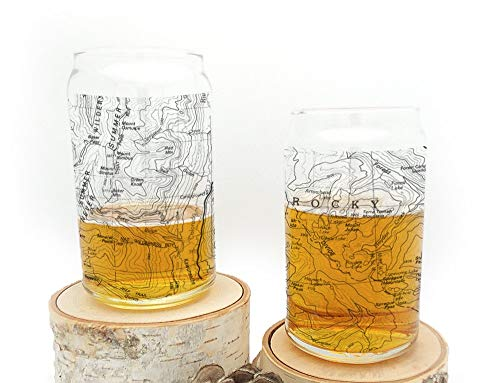 (Can Glass Set - Rocky Mountain National Park Topographic Map)