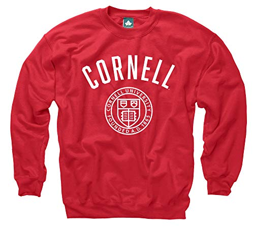 Ivysport Cornell University Crewneck Sweatshirt, Legacy, Red, Small