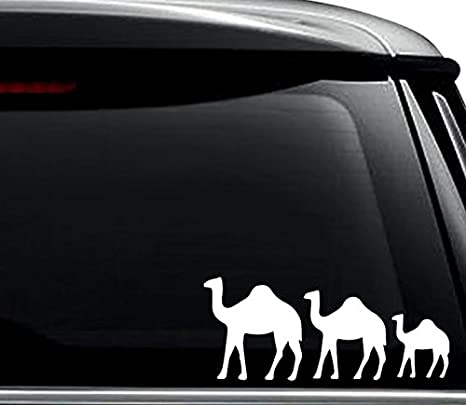 Camel Family Animal Car Window Vinyl Decal Sticker