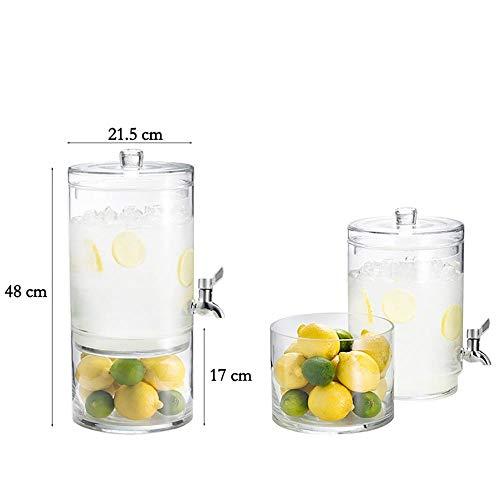 Mempers Dispensador de Bebidas de Vidrio de 7.5L Mason Jar ...