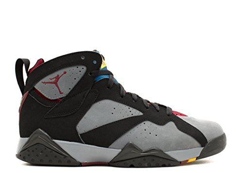 Nike Heren Air Jordan 7 Retro Lederen Basketbalschoenen Zwart, Lt Grafiet-bordeaux