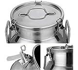 50 Liter 13.25 Gallon Stainless Steel Milk Can Wine Pail Bucket Tote Jug