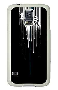 Samsung Galaxy S5 Case and Cover - Zebra Drip PC Hard Case Cover for Samsung Galaxy S5 White
