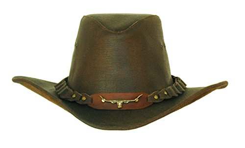 Kakadu Australia - Chapeau western - Uni - Homme -  Marron - Medium