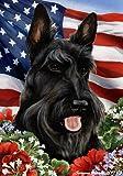 "Scottish Terrier Dog – Tamara Burnett Patriotic I Garden Dog Breed Flag 12"" x 17"" Review"