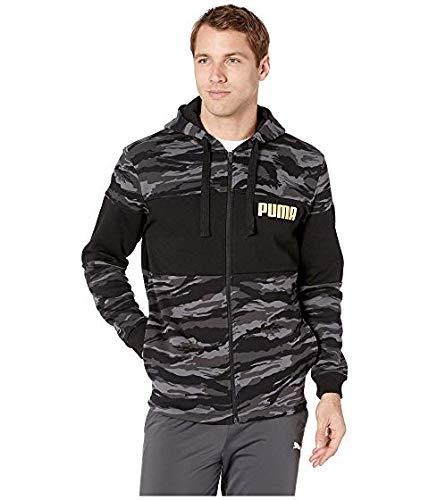 [PUMA(プーマ)] メンズウェアジャケット等 Camo Foil Full Zip Fleece Hoodie Puma Black/Gold US SM (S) [並行輸入品]   B07RKL77FF