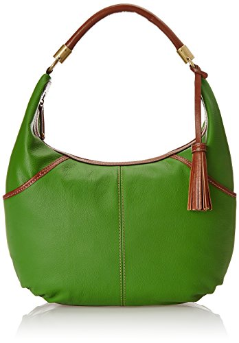 Tignanello Everyday Casual Pebble Leather Hobo Shoulder Bag Leaf Green One Size