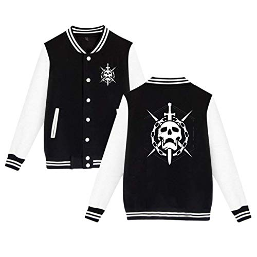 (Rebecca-P Destiny Game Raid Logo Mens & Womens Fashion Hoodie Baseball Uniform Jacket Sport Coat Black M)