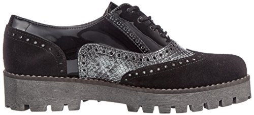 Katy Shoes combi Black 444 Derby Zapatos Mujer Schwarz para Marc Cordones de qSw5dyfqOx