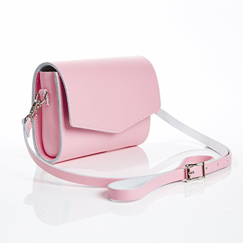 Zatchels - Cartera de mano de Piel para mujer rosa pastel