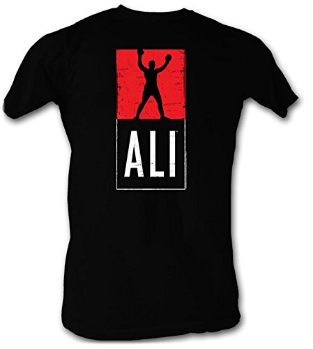 Muhammad Ali T-shirt Ali Logo Adult Black Tee Shirt (Large)