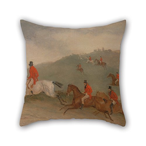 Pillow Cases 16 X 16 Inches / 40 By 40 Cm(twice Sides) Nice Choice For Relatives Monther Play Room Lover Bedroom Her Oil Painting Richard Barrett Davis - Foxhunting- Road Riders Or Funkers