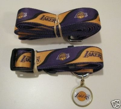 Hunter Los Angeles Lakers Pet Combo Set (Collar, Lead, ID Tag), X-Small