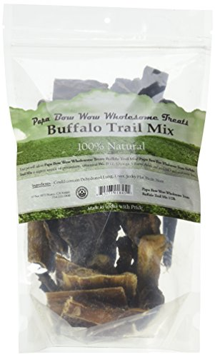 Wow Bones Bow (Papa Bow Wow Wholesome Treats 018451 0.5 Lb Trail Mix Dog Treats, One Size)