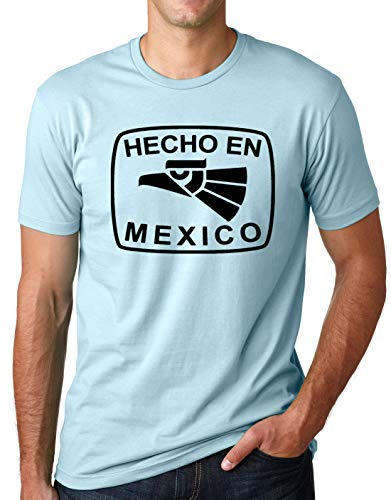 c2c5d50e6 Think Out Loud Apparel Hecho En Mexico Funny T-Shirt Mexican Humor Tee  Light Blue