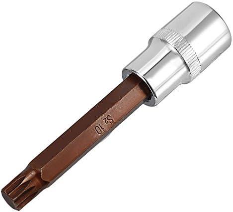 uxcell トリプルスクエアスプラインビット 12.7mmドライブ S2スチール 10mm