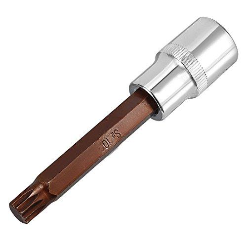 uxcell 1/2-Inch Drive 10mm Triple Square Spline Bit Extra Long Socket, S2 Steel
