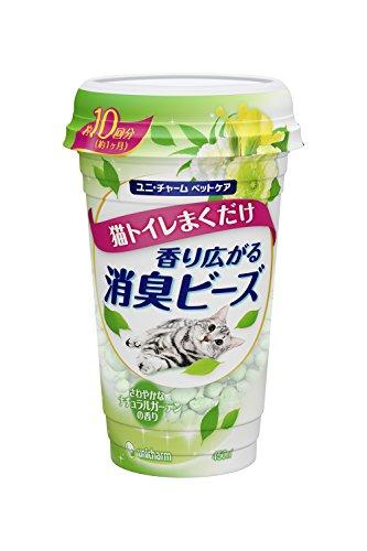 Unicharm Odor Control Beads Cat Litter Deodorizer for cats litter odor control - Natural Garden Fragrance