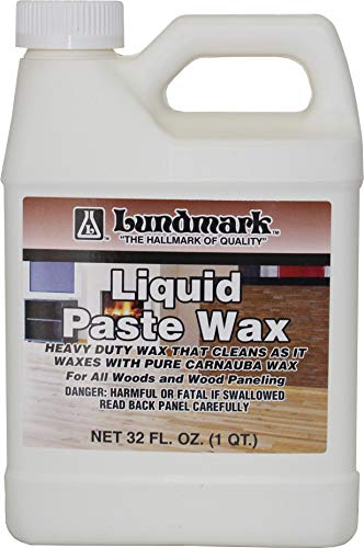 Lundmark Liquid Paste Wax with Carnauba Wax, 32-Ounce, 3208F32-6 (Best Liquid Carnauba Wax)