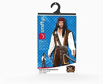 Buy Smiffy's Smiffys Adult Men High Seas Pirate Costume, Top